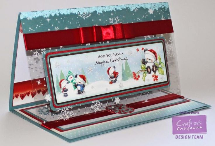 @Crafter's Companion - Party Paws Paper Kit - Easel Card with Acetate Front -Topper, Card, Insert, Acetate -Die'sire Snowflake Die