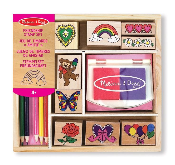 Wooden Friendship Stamp Set for kids, Melissa and Doug at www.kidstoystoyou.com.au