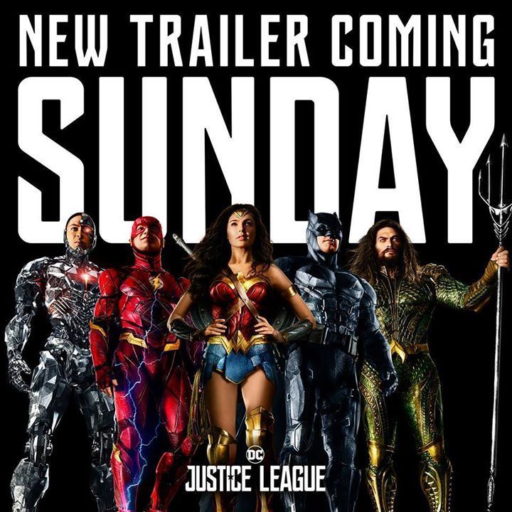 NEW JUSTICE LEAGUE TRAILER COMING!!!!        Get ready for the all-new #JusticeLeague trailer this Sunday at 9AM ET / 6AM PT.    SHARE THIS WITH YOUR FRIENDS! TAG THEM AND STAR DISCUSSING!!!     To be among the firsts to watch the trailer Like-  DC, Marvel and Dragon Ball Fanverse #picacollection #shopping #anime #videogames #cinema #fashion