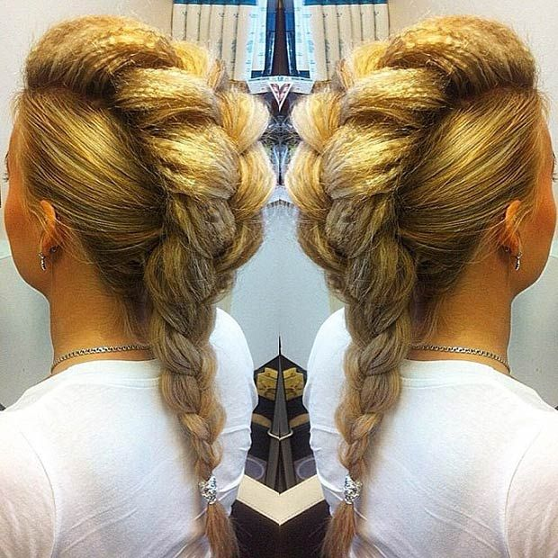 Big Dutch Braid Faux Hawk