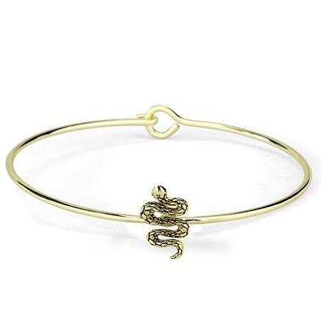d36f1bb87c42 Gold Snake Bangle Bracelet http   www.inspiredsilver.com   goldbracelet