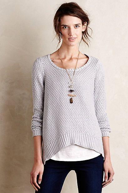 shimmer stitch pullover / anthropologie