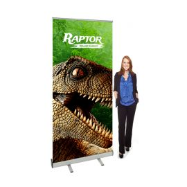 Roller banners are also known as retractable pull up, or roll up banner stands. These anti scuff and anti curl banner stands are a great way to exhibit your brand and message at trade shows and promotional events. Very easy to use cassette system houses your custom printed graphic. So just pull up and you're all set to go!