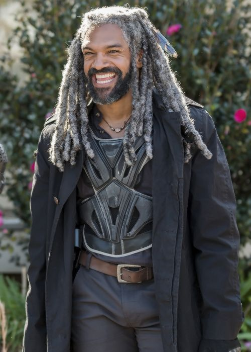 Khary Payton behind the scenes of The Walking Dead Season 7 Episode 16 | The First Day of the Rest of Your Life