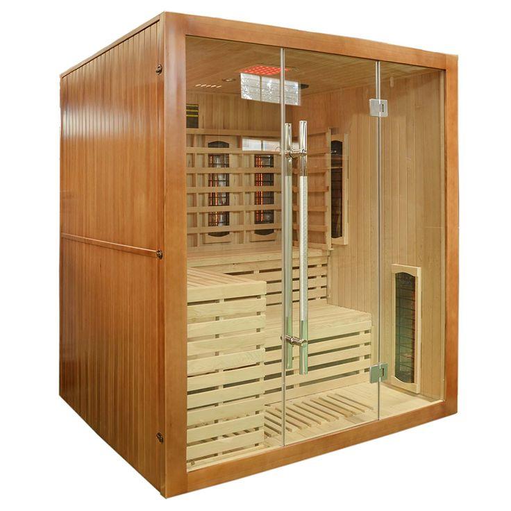 Prosta w formie, pasująca do każdego pomieszczenia sauna infrared z radiem, jonizatorem powietrza...