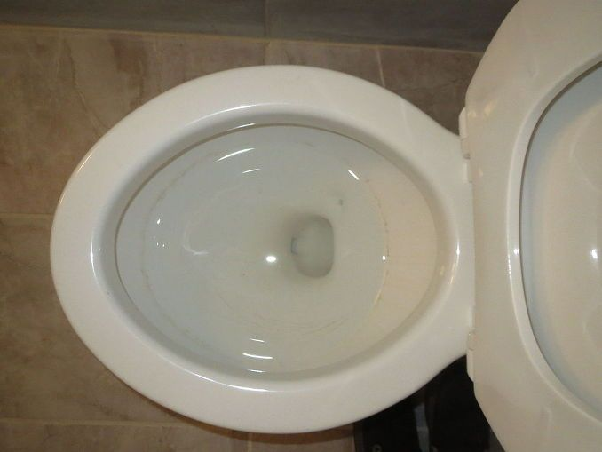 how to clean yellowed toilet bowl