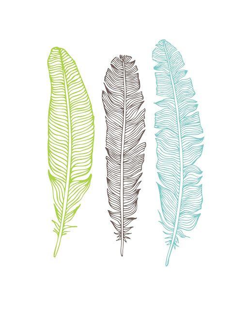 5 free feather printable art prints - Free Printable Pictures