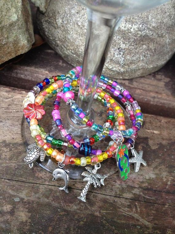 Artistic Wine Ring Sea Bling Charm Set qty 5 by DFInspirations, $25.00