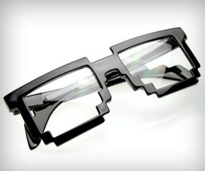 Pixel Design glasses frame - don't they look really cool? Perfect for instant nerdy or geeky look!