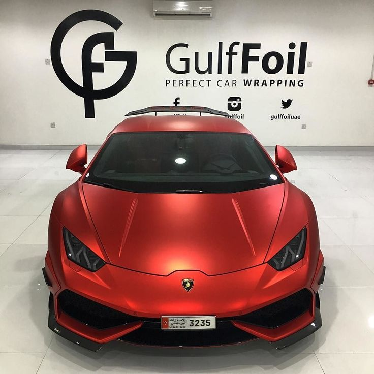 #Lamborghini DMC Huracan Wrapped in Satin Red Chrome. Fantastic work by @gulffoil #MakeitStick #Paintisdead
