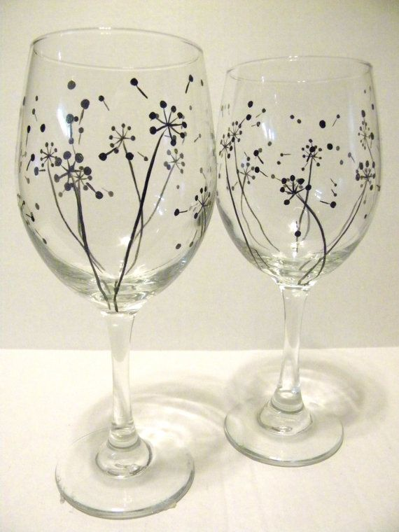 The 25 best ideas about sharpie wine glasses on pinterest for What kind of paint to use for wine bottles