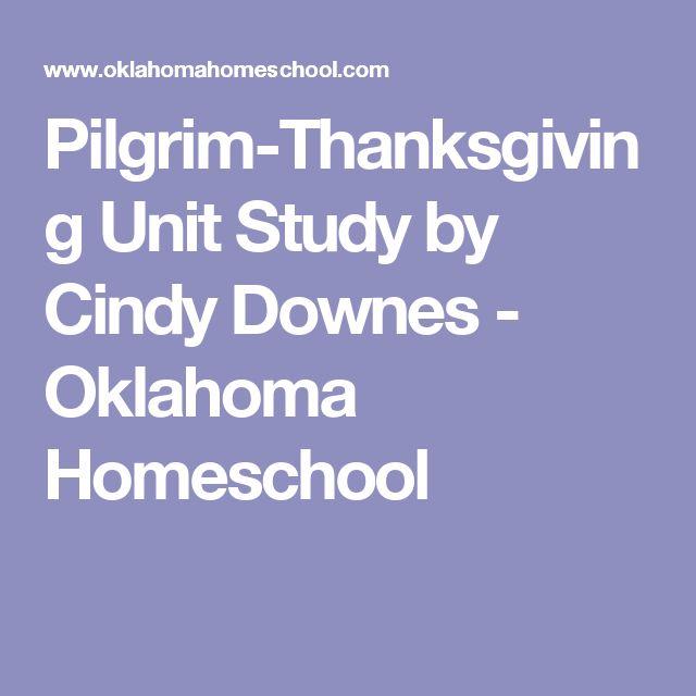 Pilgrim-Thanksgiving Unit Study by Cindy Downes - Oklahoma Homeschool