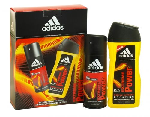 Adidas 2 piece deodorant & shower gel gift set extreme power
