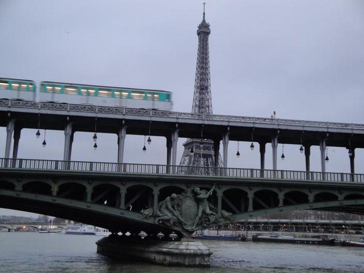 Eiffel Tower Metro in Paris