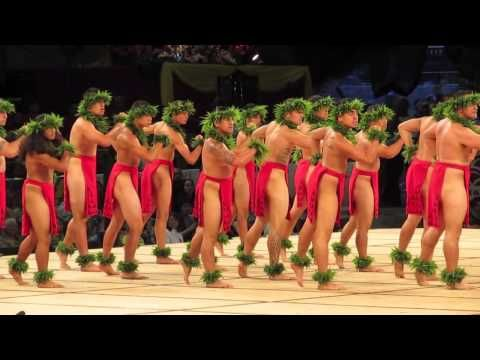 Merrie Monarch Festival 2013 - Hula Kahiko,  Hawaiian dancing, Big Island, Hawaii.