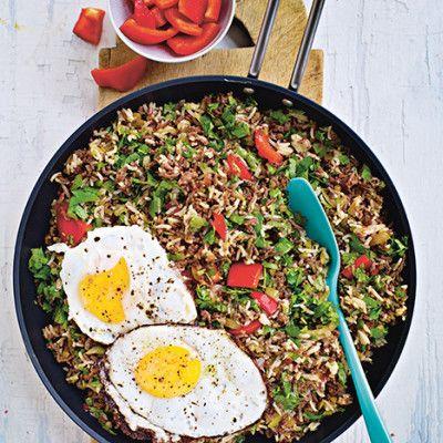Bild på Stekt ris med köttfärs