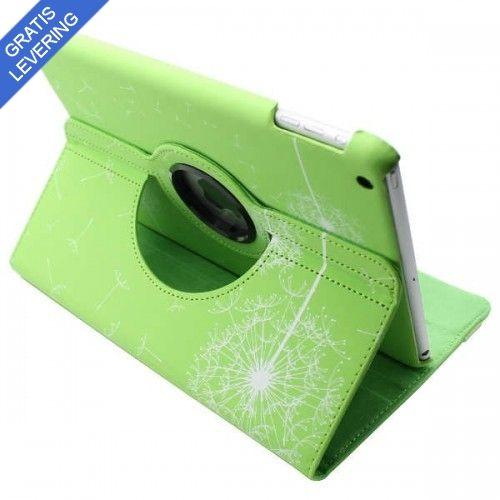iPad Air cover med 360 graders roterende case – Mælkebøtte design - Grøn
