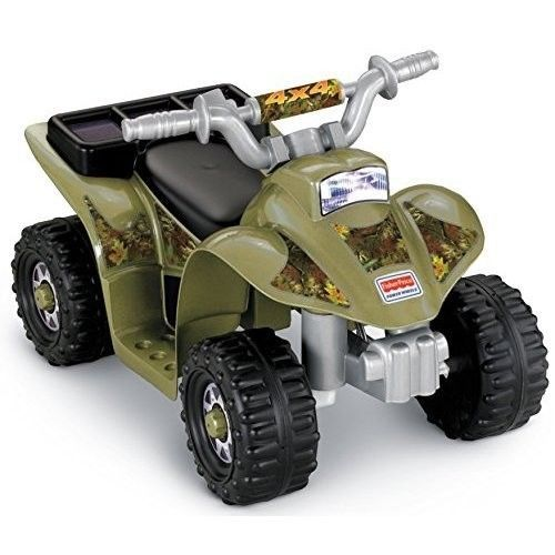 Power Wheels Kids 4 Wheeler Ride On Electric Toy Lil Quad Camouflage Colors  #FisherPrice