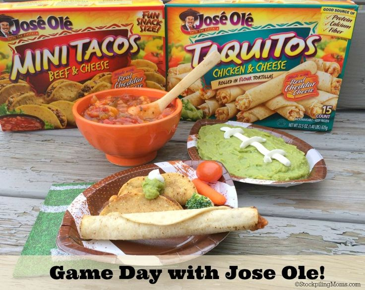 Great Game Day Dip Idea to pair with Jose Ole snacks! Thanks to Stockpiling Moms for this dip display.
