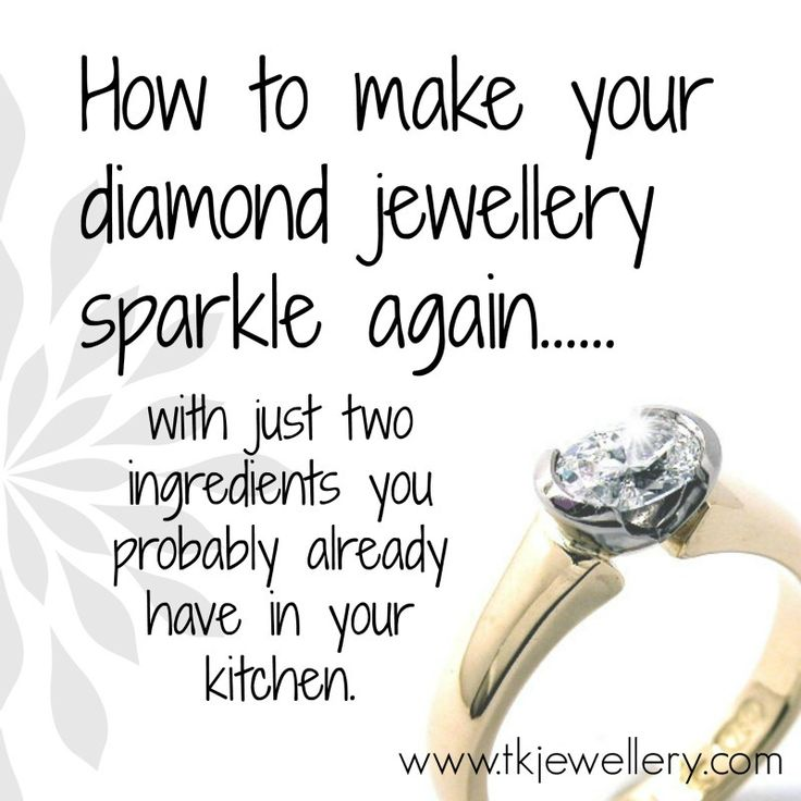 Homemade cleaner to make your diamonds sparkle again. Super-easy!