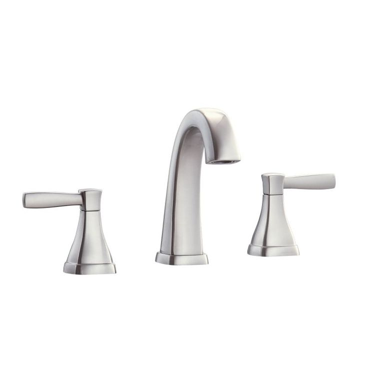 Avanity FWS1512 Clarice Widespread Bathroom Faucet with Pop-Up Drain Assembly Brushed Nickel Faucet Lavatory Double Handle