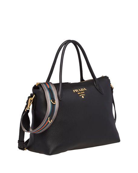 a513f6a9b190 Prada Daino Medium Leather Tote Bag