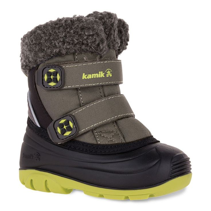 Kamik Clover Toddler Boys' Waterproof Winter Boots, Size: 10 T, Grey