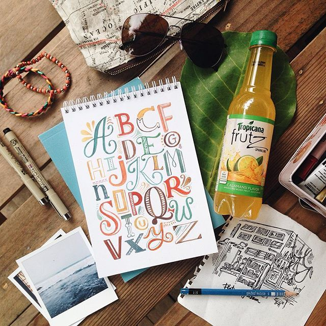 Currently: dreaming of the beach and a bottle of ice cold #TropicanaFrutz while finishing up a project tonight  - Don't forget to grab your fruity fix this coming weekend at your nearest 7-Eleven branch! ✨
