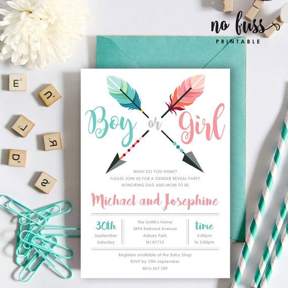 17 Best ideas about Gender Reveal Invitations on Pinterest | Baby ...