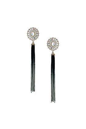 Dip Dye Tassel Drop Earrings - Jewellery  - Bags  Accessories
