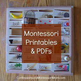 Montessori Printables & PDFs {Confessions of a Montessori Mom blog}