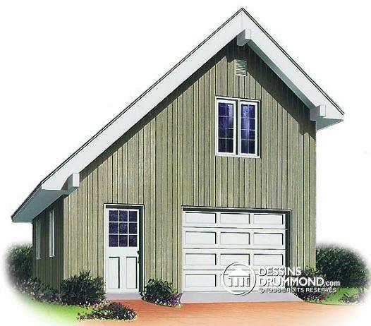 31 best roof styles images on pinterest architecture for Plan de garage avec loft