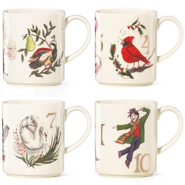 Twelve Days of Christmas 4-pc Mug Set