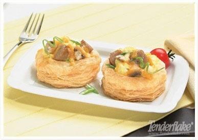 Mushroom and Sausage Breakfast Patty Shells from www.Tenderflake.com