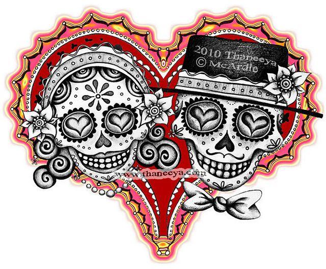 180 best couples tattoos images on pinterest tattoo designs sugar skulls voltagebd Choice Image