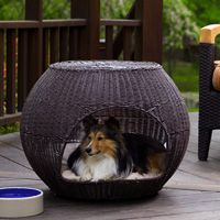 Refined Canine Igloo Dog Bed with Outdoor Cushion () Review Buy Now