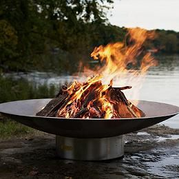 Stainless Steel Fire Pit by Firepit Art