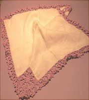 Vintage handkerchief sold in LACE on website http://barbspencerdolls.com