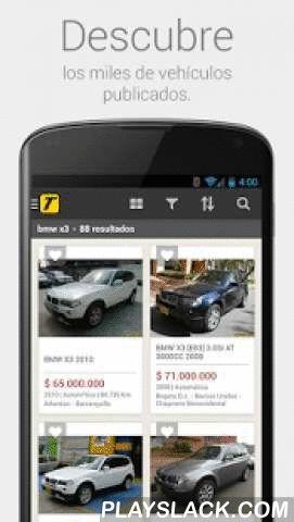 TuCarro  Android App - playslack.com ,  Busca el auto de tus sueños desde cualquier lugar con la aplicación oficial de TuCarro.Descubre todas las marcas, guarda tus favoritos, compártelos con tus amigos. Pregúntale lo que necesites a los anunciantes.TuCarro para Android está disponible en Colombia y Venezuela.¡Descárgala gratis!Características:- Buscador de vehículos por marca, modelo y versión.- Sugerencias de búsquedas mientras escribes lo que quieres.- Filtros para ordenar por relevancia…