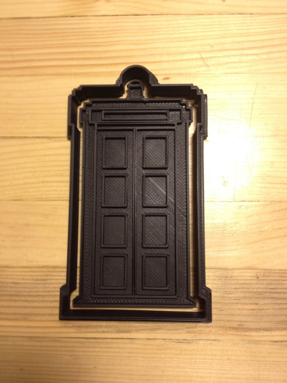 Phone Booth Cookie Press w Custom Cutter by PlasticsinPrint, $13.00 I would totally be making TARDIS cookies all day and night!!: My Girl