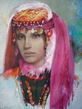 Remzi Iren -.Turkish Painter Anatolia headband..Çorum -iskilip