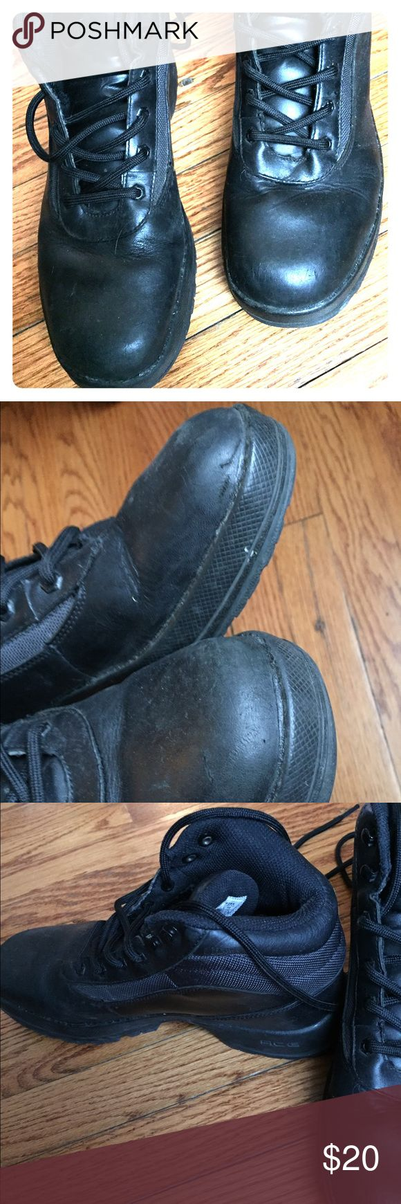 NIKE Boots Men's NIKE black boots. Pre-loved and scratch on front of left shoe. See pics. Ask any questions. Smoke free home. Nike Shoes Boots