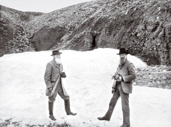 Harriman Alaska expedition images | Naturalist and writer Burroughs (above, left, with conservationist ...