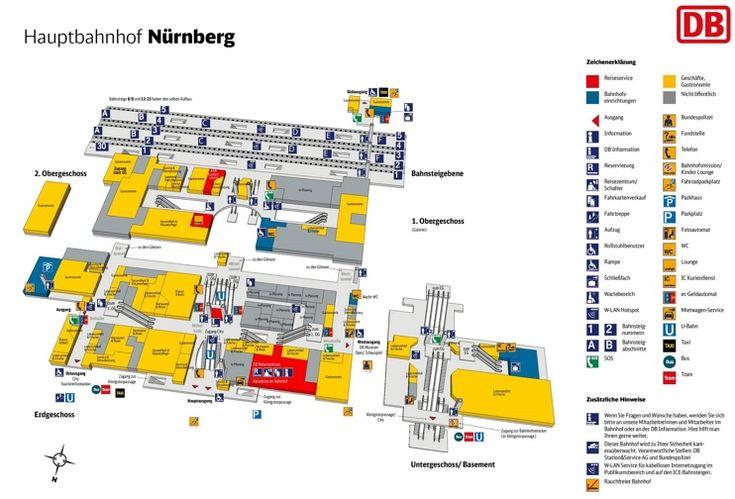 Nürnberg hauptbahnhof map
