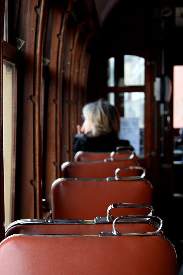 Inside a traditional trolley in Porto- #Porto | #Portugal