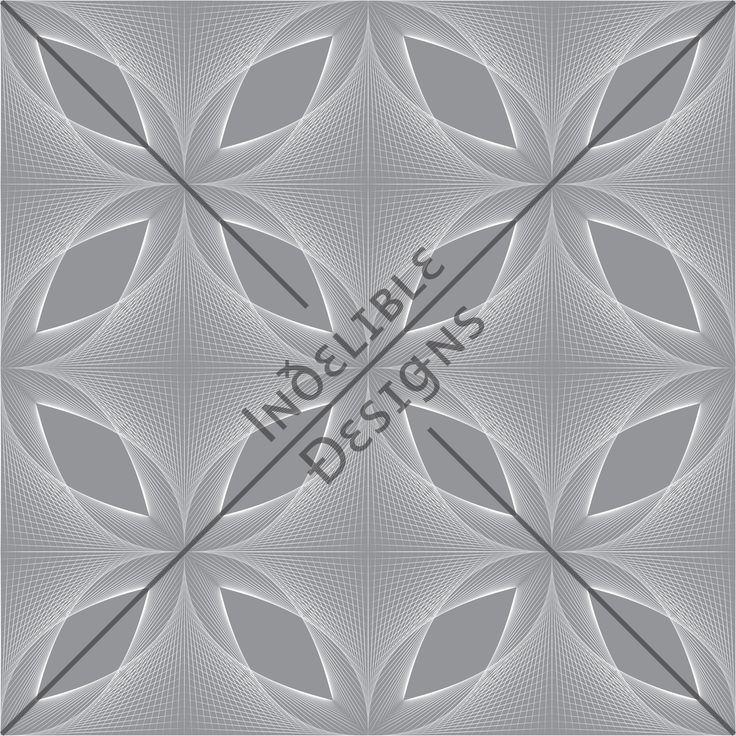 ID#27CE — Iɴðɛʟɪʙʟɛ Ðɛsɪǥɴs #screenprint #printdesign #textiledesign #textileprint #silver #grey #linear #fan #layer #white #perspective #line #shape