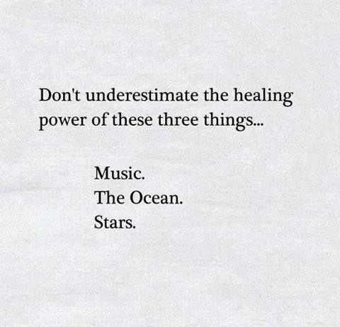 That's where my healing began