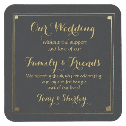 personalised Favor wedding coaster Thank you - wedding thank you gifts cards stamps postcards marriage thankyou
