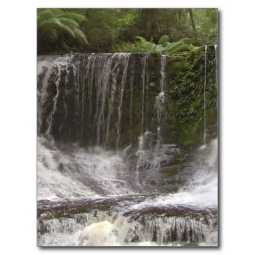 Oasis Waterfalls in Tasmania south of Australia Postcard