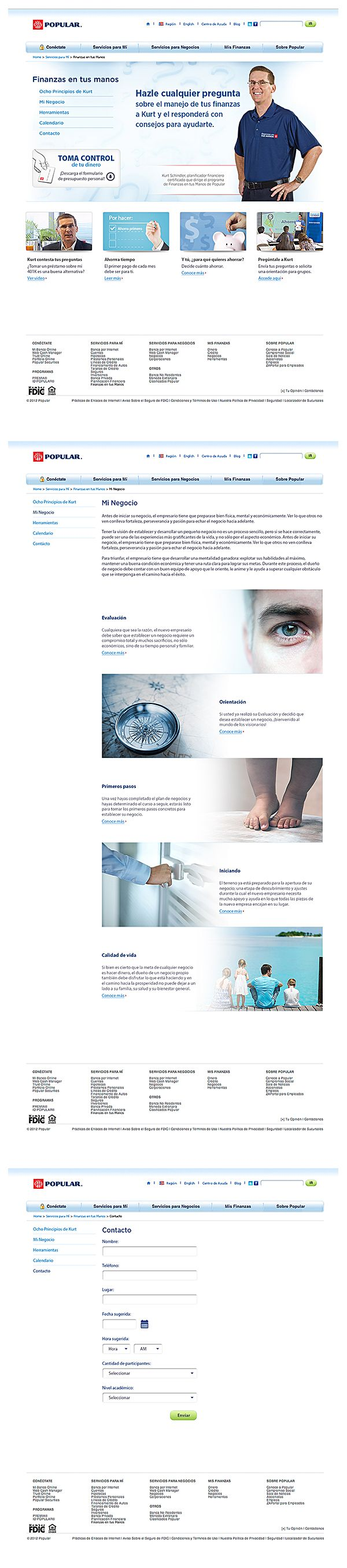 Project: Website - Client: Banco Popular de Puerto Rico - Country: Puerto Rico / Works by KDS, Buenos Aires, Argentina / Find us in www.kds.com.ar or Facebook/KDSARG and Twitter/KDSARG / Tags: #finanzas #finance #popular #bppr #créditos #credits #banco #bank #dinero #money #prestamos #loan